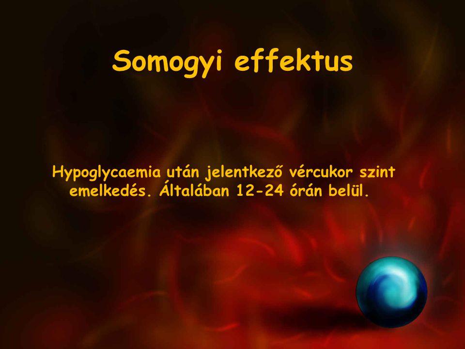 Somogyi effektus Hypoglycaemia után jelentkező vércukor szint emelkedés.