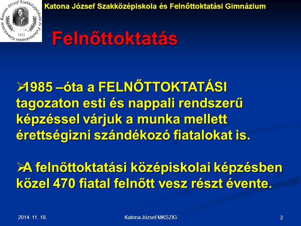 Katona József Szakközépiskola és Felnőttoktatási Gimnázium