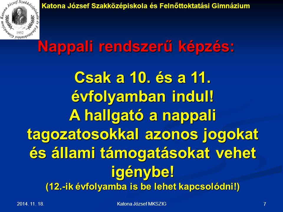 Nappali rendszerű képzés: