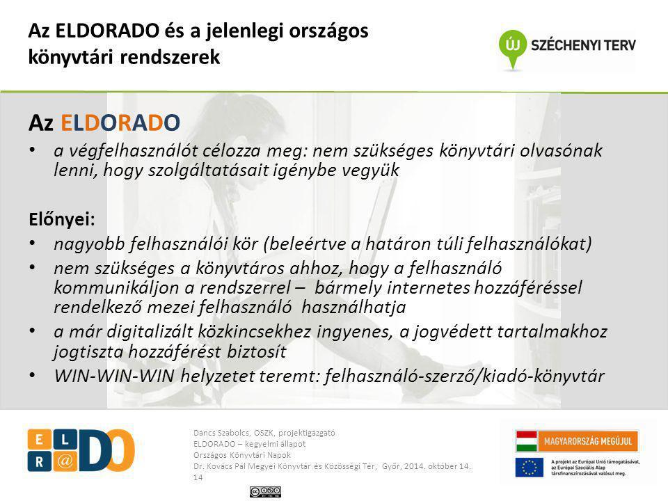Az ELDORADO és a jelenlegi országos könyvtári rendszerek