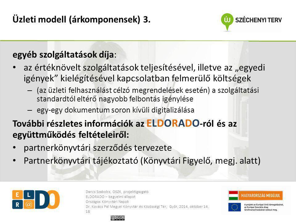 Üzleti modell (árkomponensek) 3.