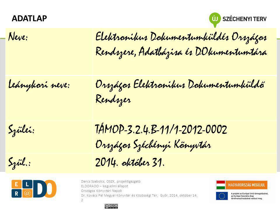 Országos Elektronikus Dokumentumküldő Rendszer
