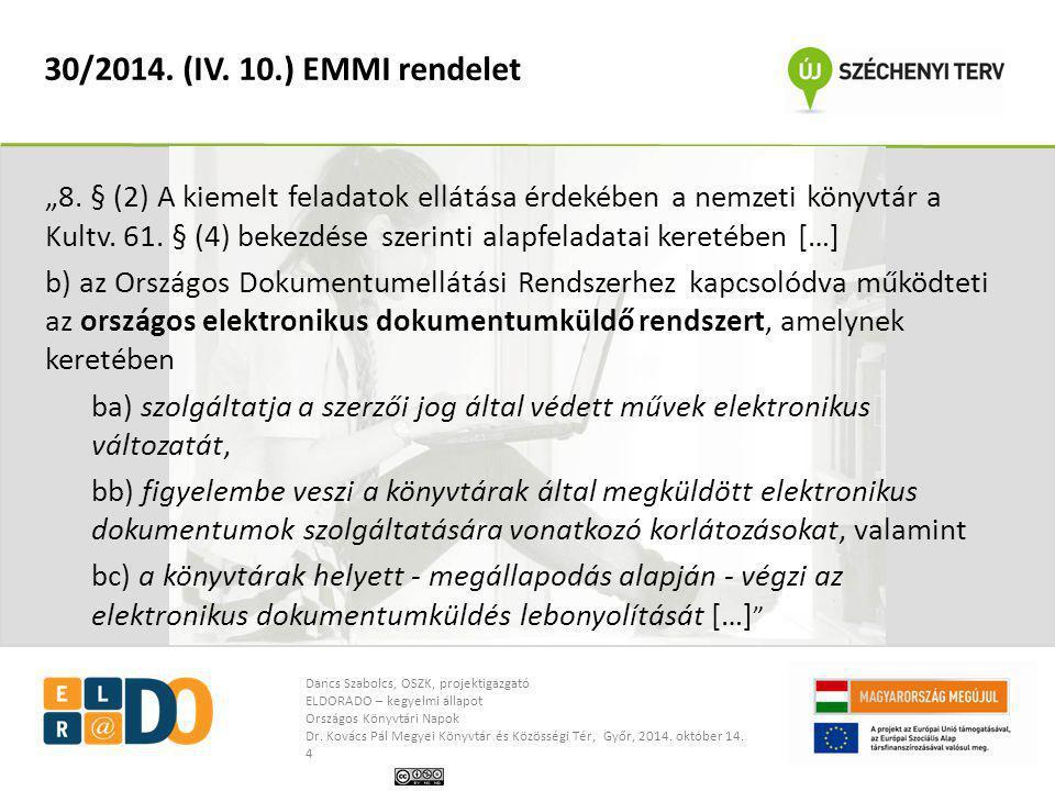 30/2014. (IV. 10.) EMMI rendelet
