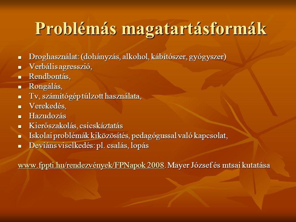 Problémás magatartásformák