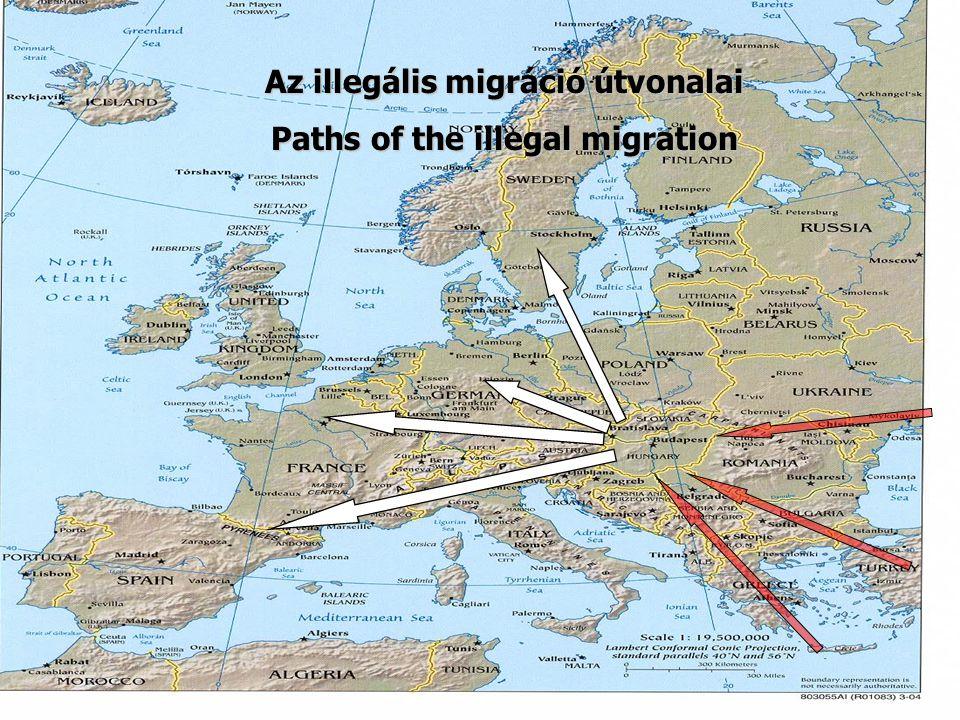 Az illegális migráció útvonalai Paths of the illegal migration