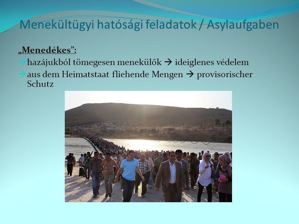 Menekültügyi hatósági feladatok / Asylaufgaben
