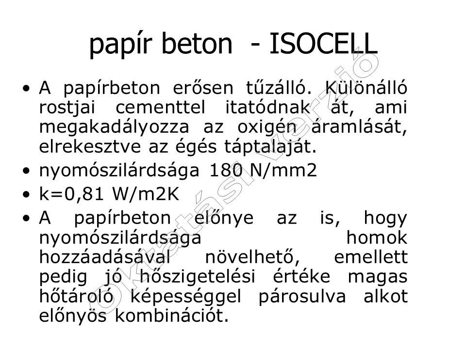 papír beton - ISOCELL Oktatási verzió