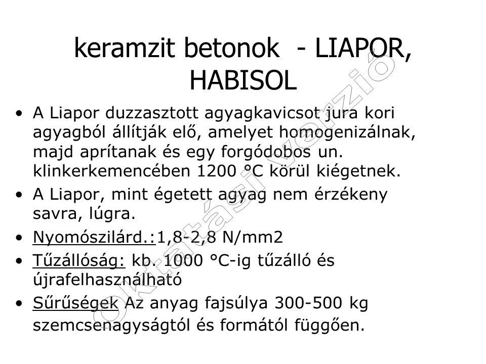 keramzit betonok - LIAPOR, HABISOL