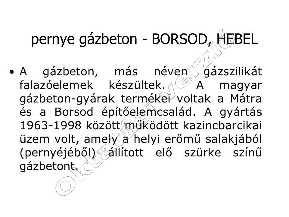pernye gázbeton - BORSOD, HEBEL
