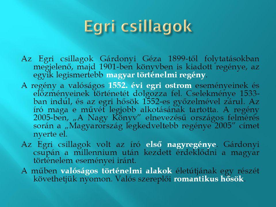 Az Egri csillagok Gárdonyi Géza 1899-től folytatásokban megjelenő, majd 1901-ben könyvben is kiadott regénye, az egyik legismertebb magyar történelmi regény.