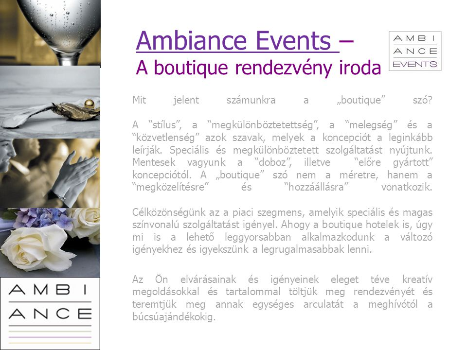 Ambiance Events – A boutique rendezvény iroda