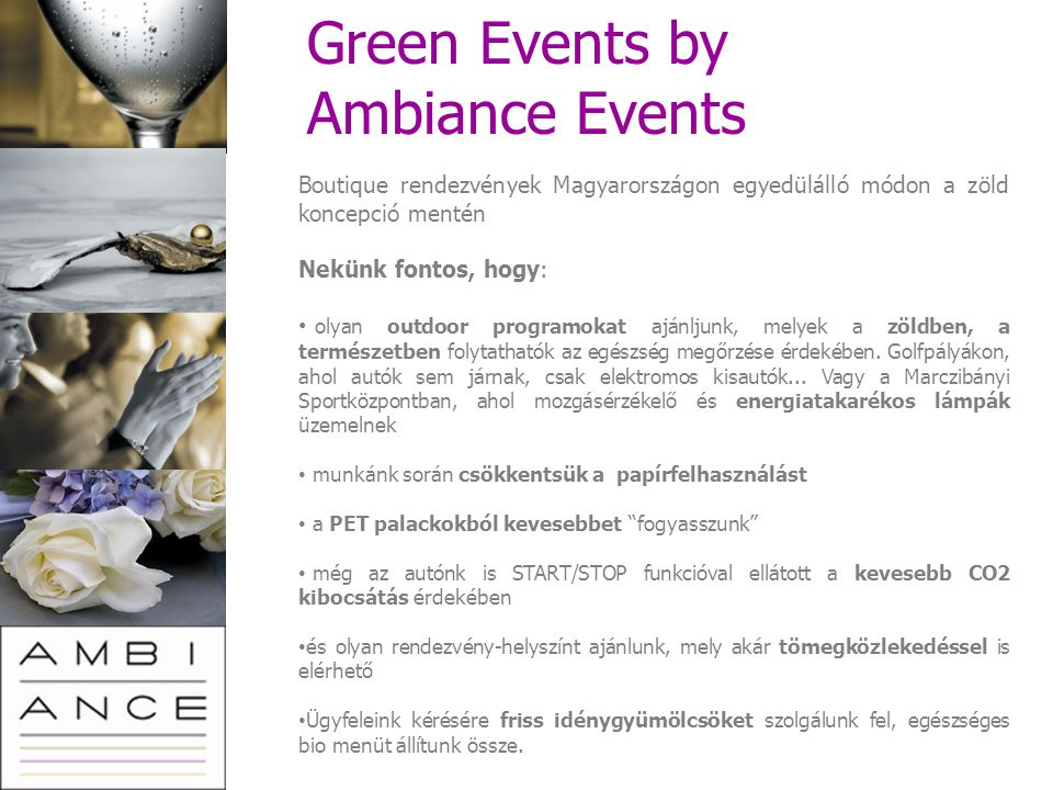 Green Events by Ambiance Events