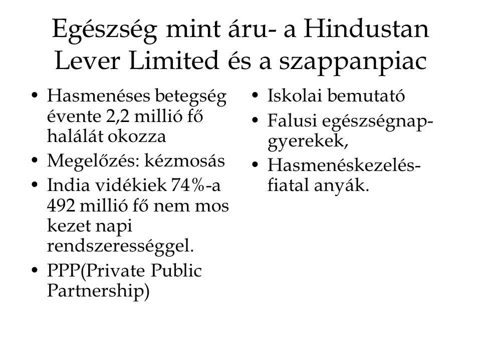 Egészség mint áru- a Hindustan Lever Limited és a szappanpiac