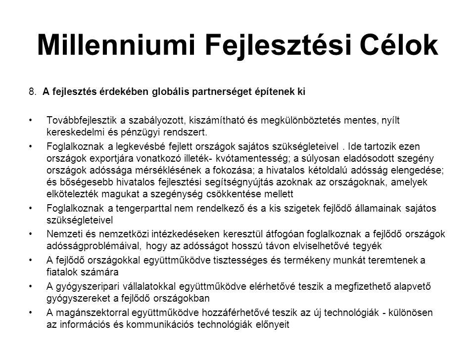 Millenniumi Fejlesztési Célok