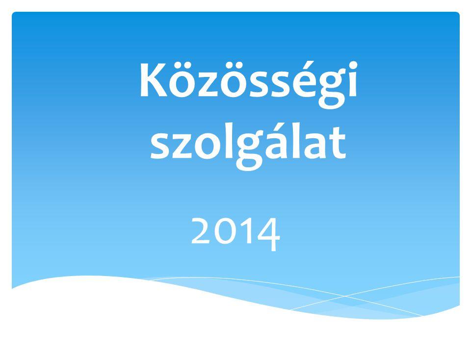 Közösségi szolgálat 2014