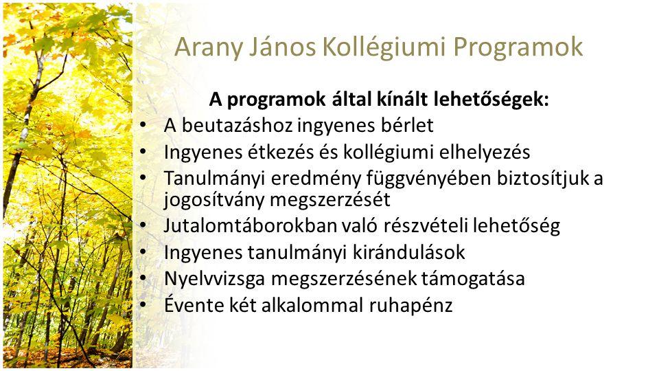Arany János Kollégiumi Programok