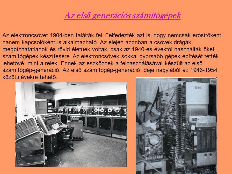 Az első generációs számítógépek