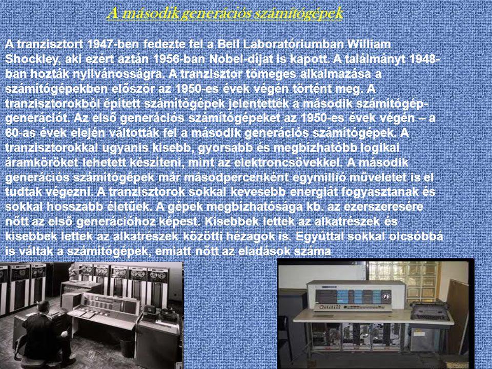 A második generációs számítógépek