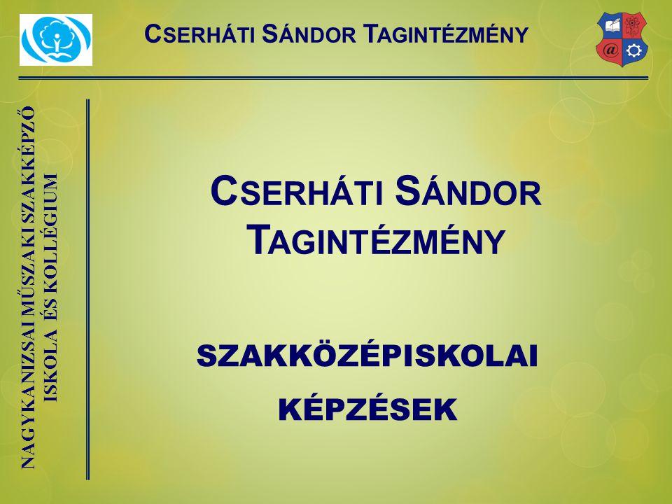 Cserháti Sándor Tagintézmény Cserháti Sándor Tagintézmény