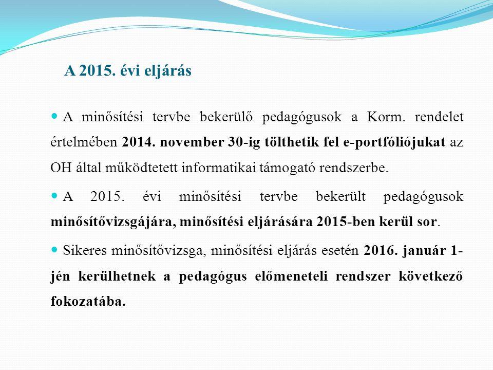 A 2015. évi eljárás