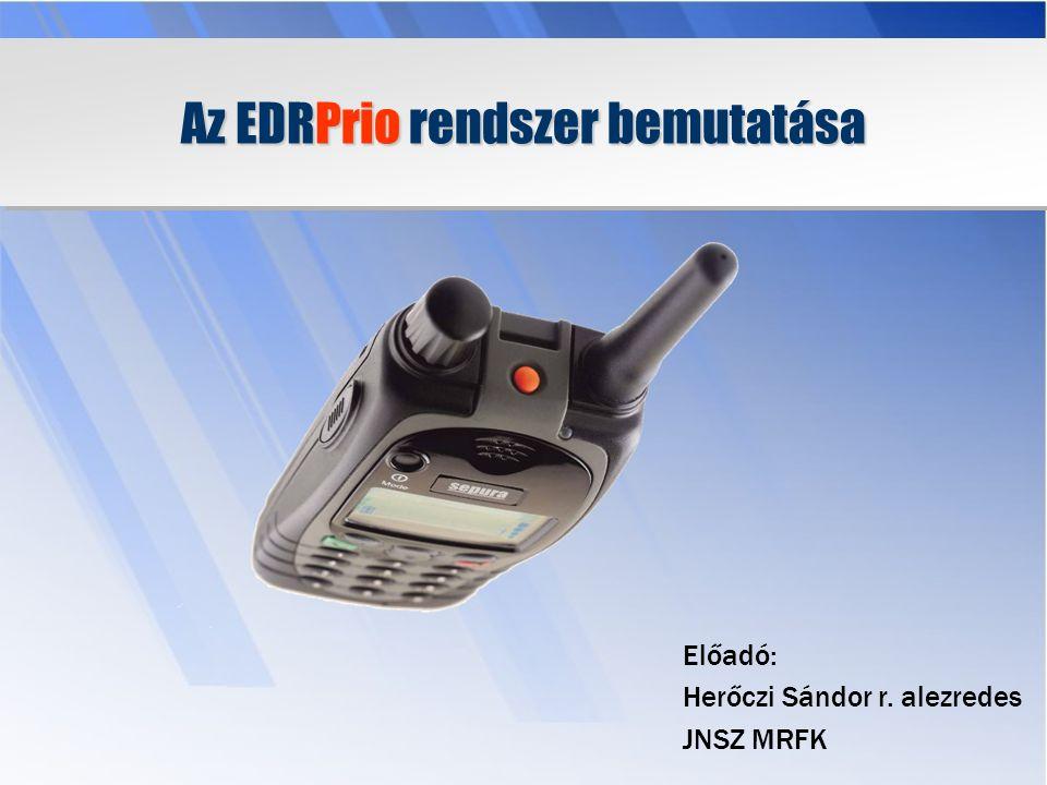 Az EDRPrio rendszer bemutatása