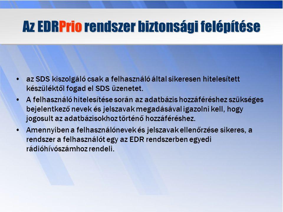 Az EDRPrio rendszer biztonsági felépítése