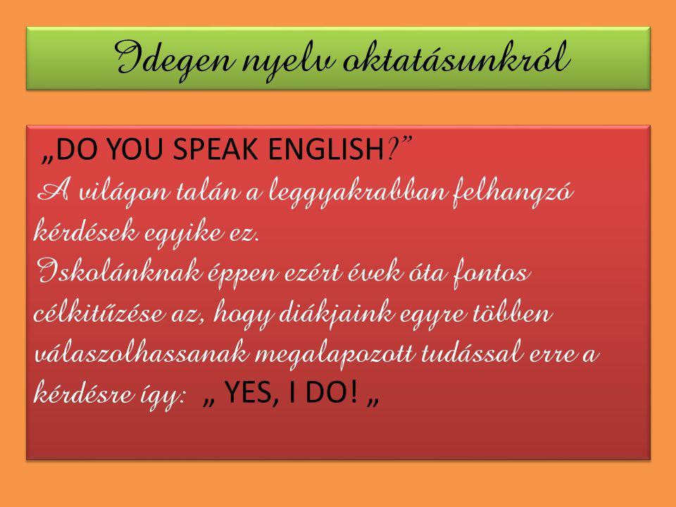 Idegen nyelv oktatásunkról