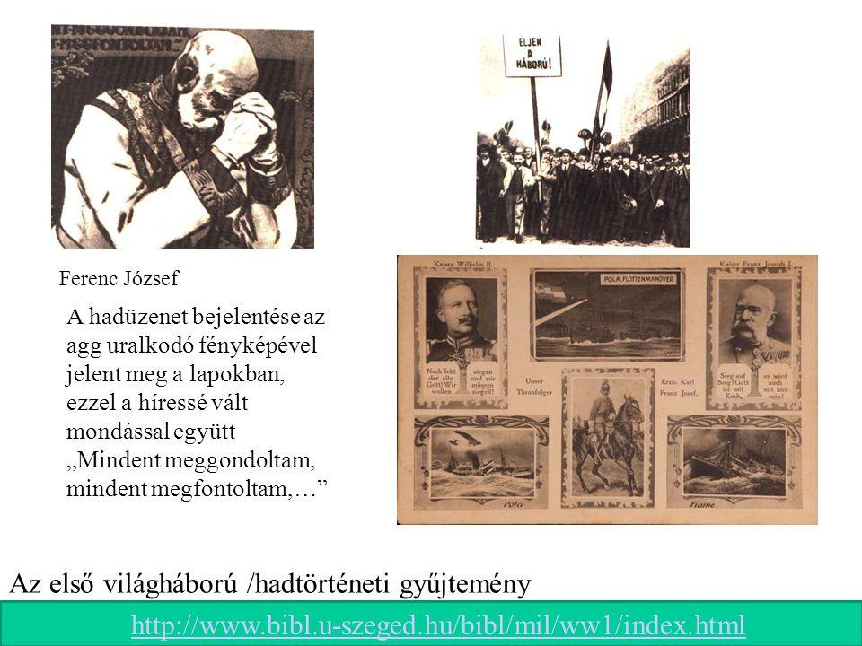Az első világháború /hadtörténeti gyűjtemény