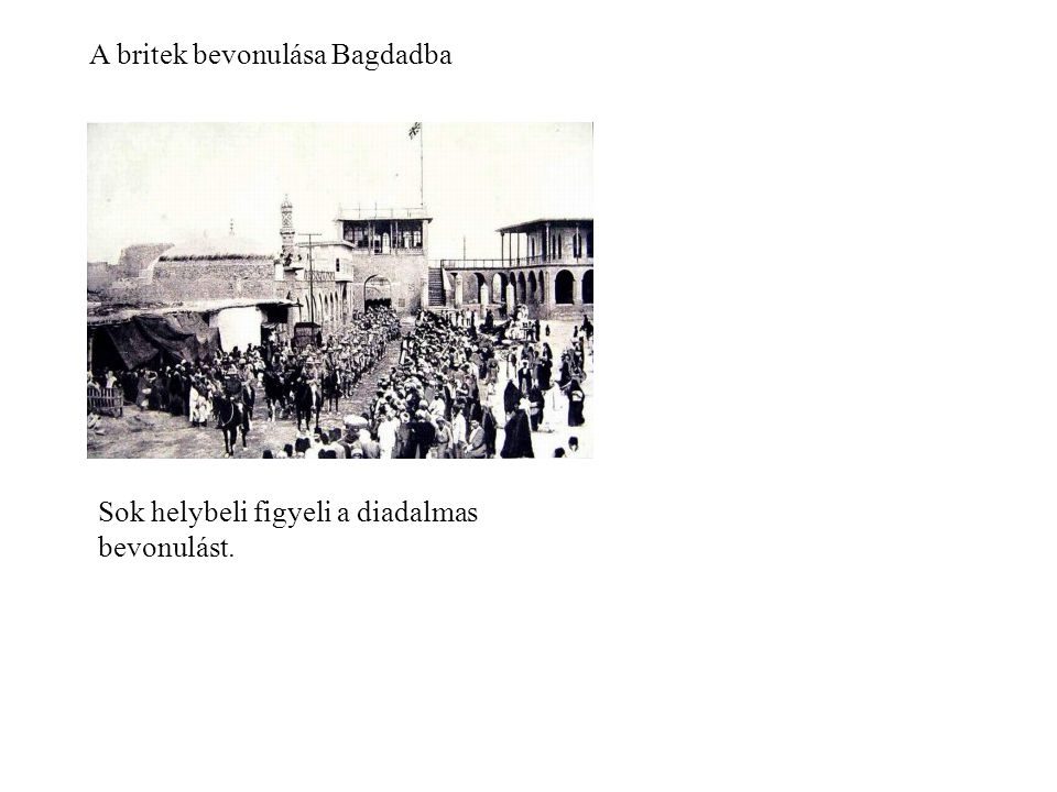 A britek bevonulása Bagdadba