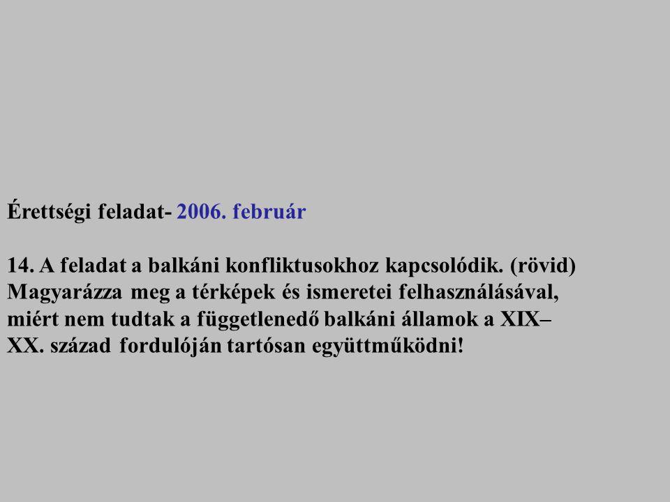 Érettségi feladat- 2006. február