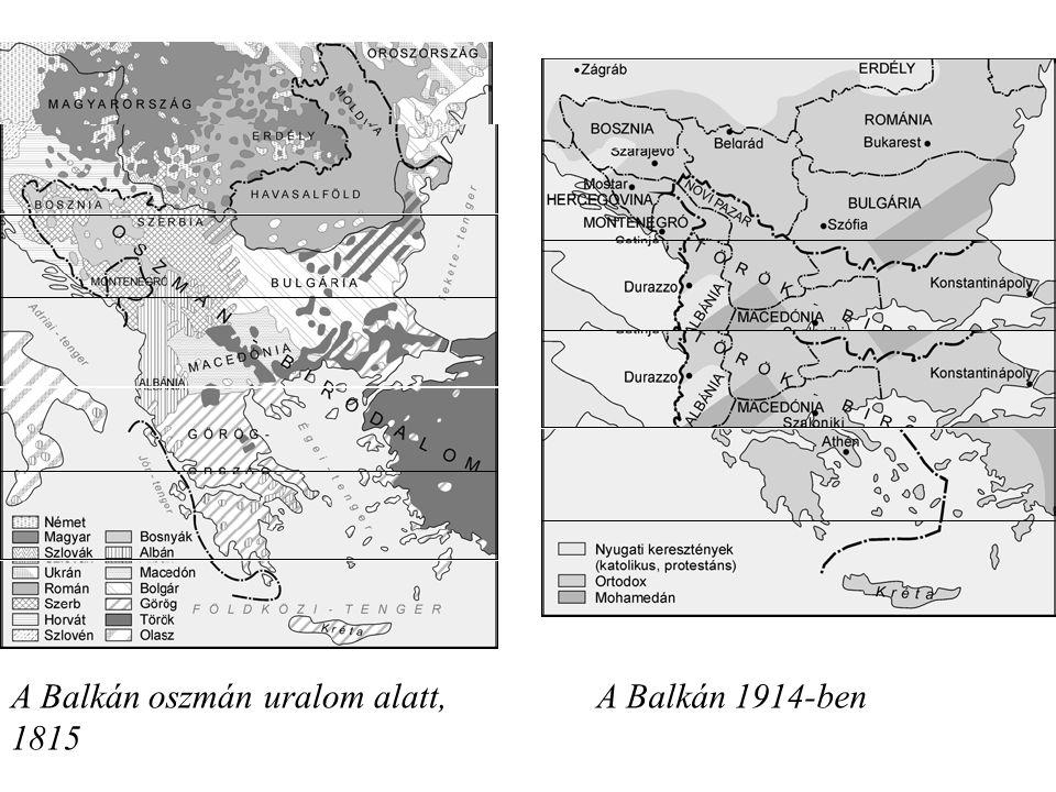 A Balkán oszmán uralom alatt, 1815