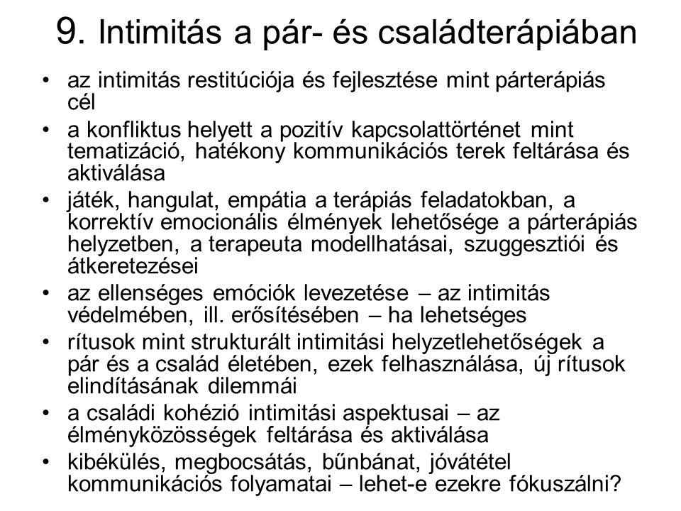 9. Intimitás a pár- és családterápiában
