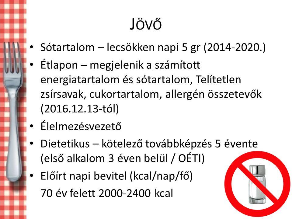 Jövő Sótartalom – lecsökken napi 5 gr (2014-2020.)
