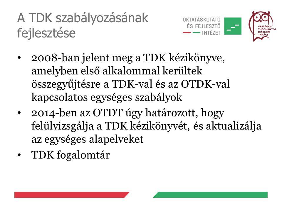 A TDK szabályozásának fejlesztése