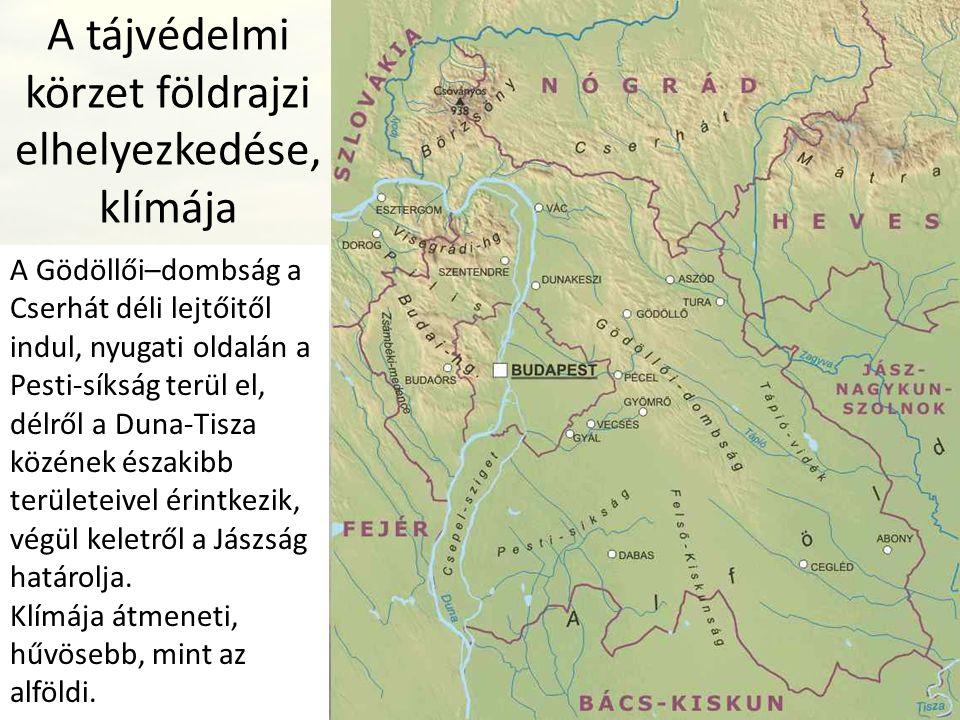 A tájvédelmi körzet földrajzi elhelyezkedése, klímája