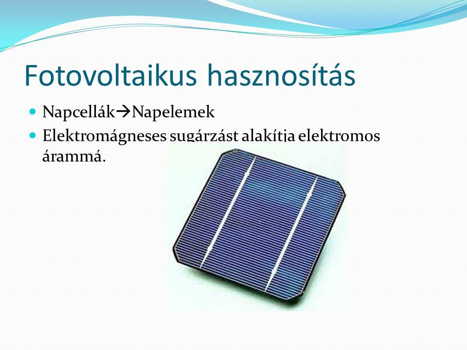 Fotovoltaikus hasznosítás