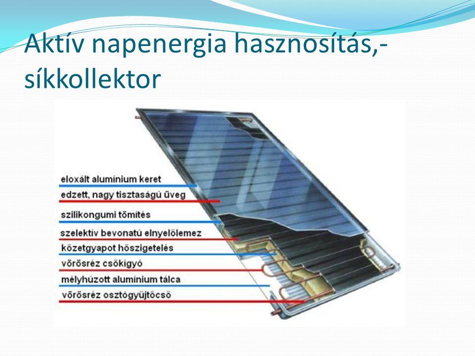Aktív napenergia hasznosítás,-síkkollektor