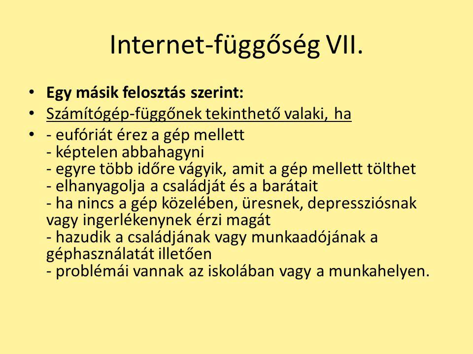 Internet-függőség VII.