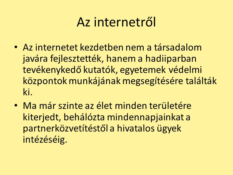Az internetről