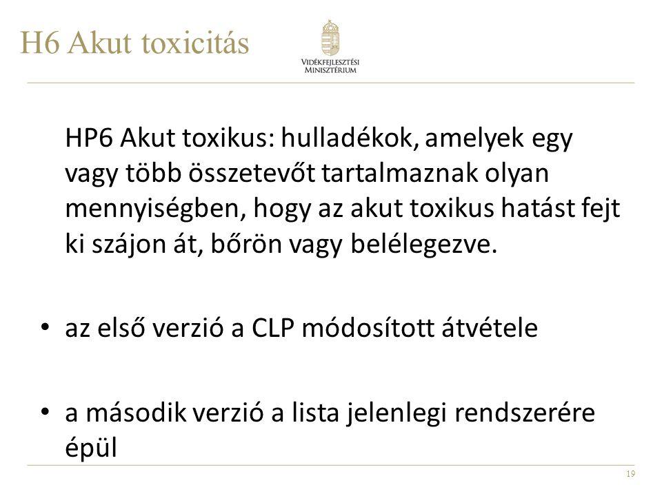H6 Akut toxicitás
