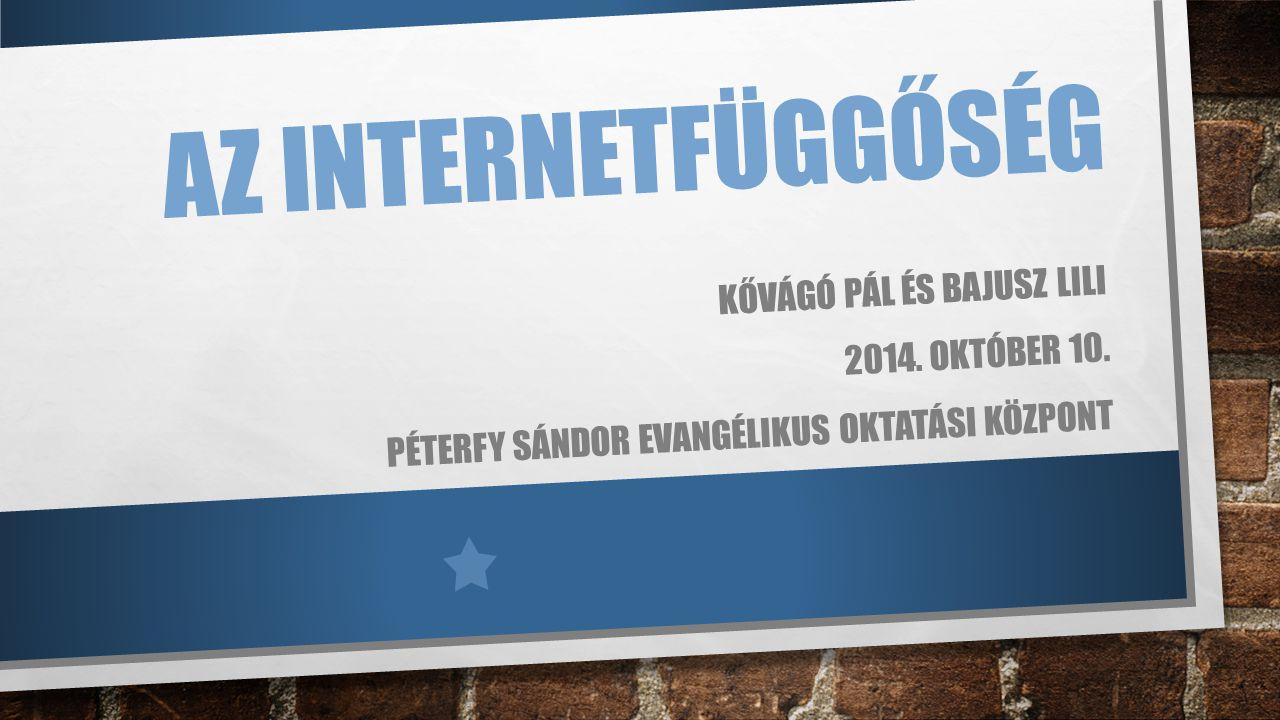 Az internetfüggőség Kővágó pál és Bajusz Lili 2014. Október 10.