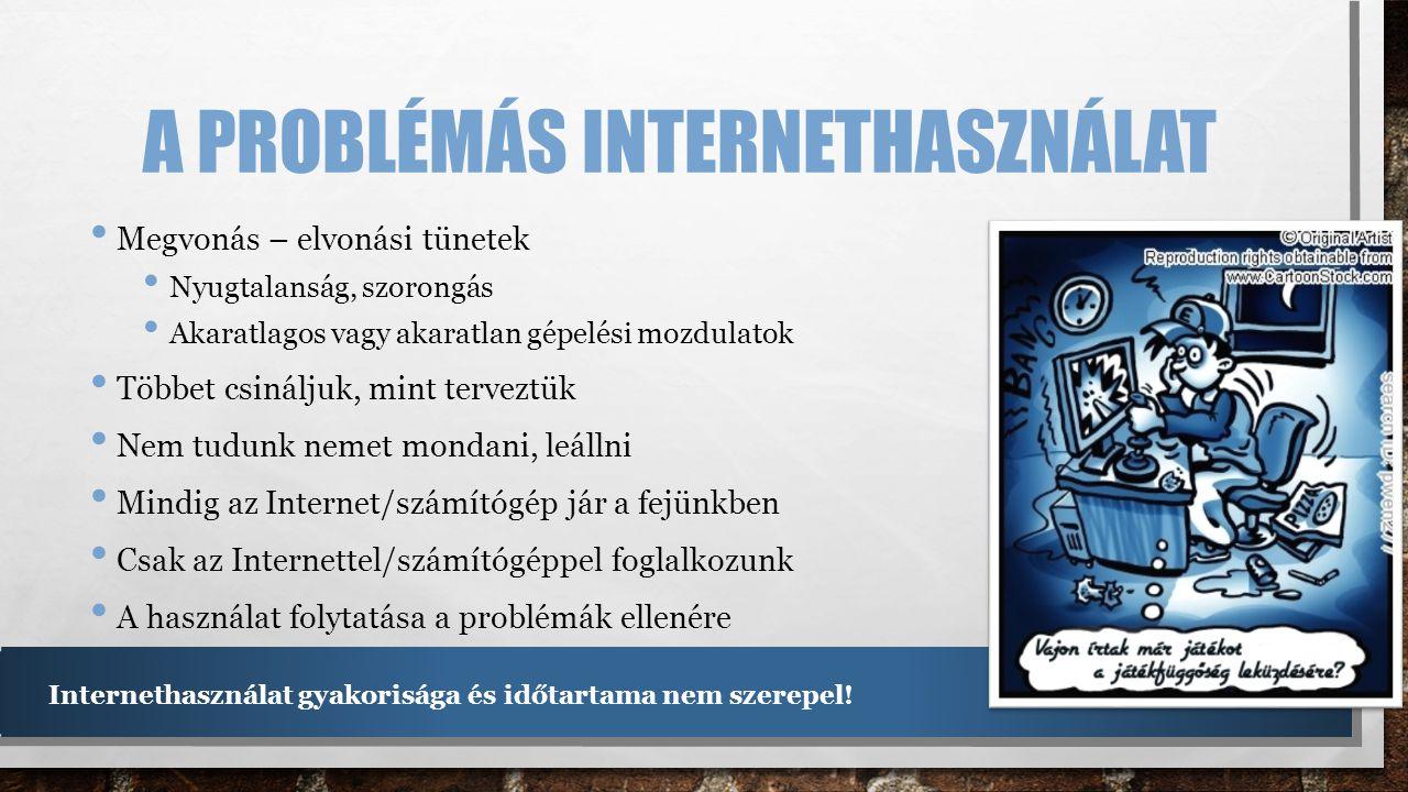 A problémás internethasználat