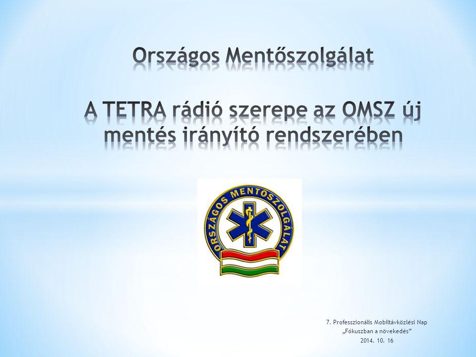 Országos Mentőszolgálat A TETRA rádió szerepe az OMSZ új mentés irányító rendszerében