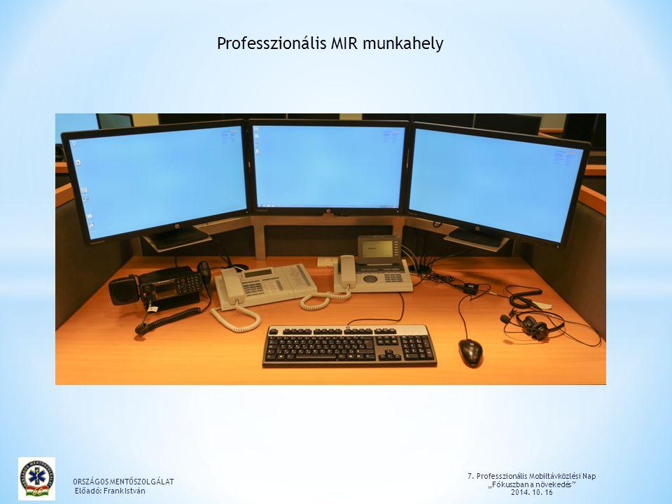 Professzionális MIR munkahely