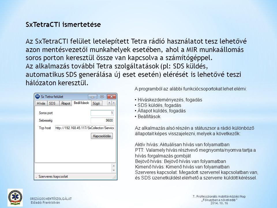 SxTetraCTI ismertetése
