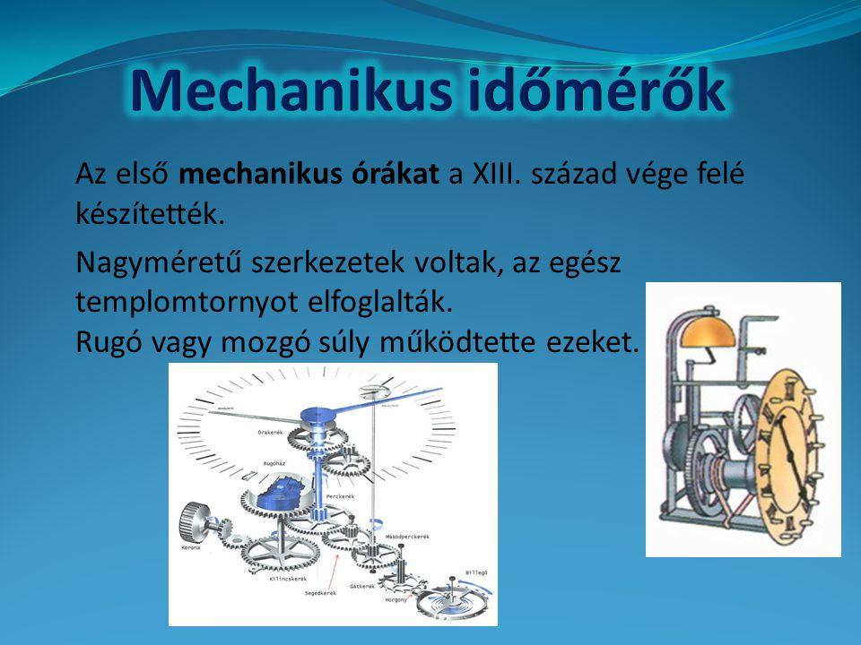 Mechanikus időmérők