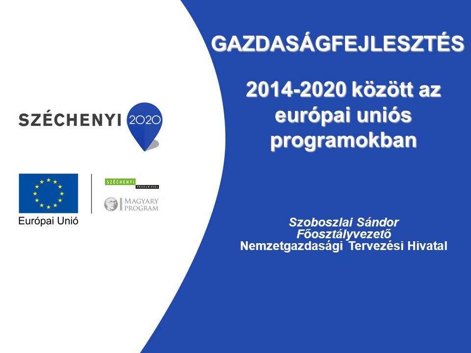 2014-2020 között az európai uniós programokban
