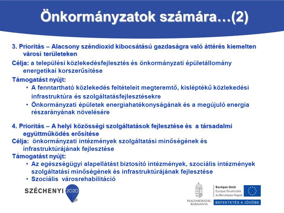 Önkormányzatok számára…(2)