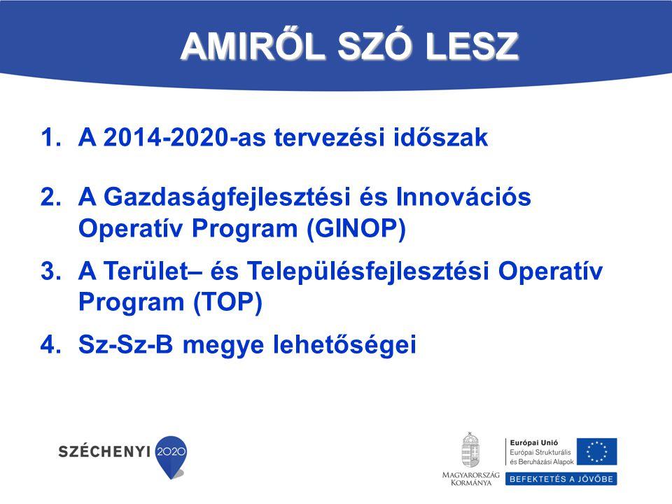 AMIRŐL SZÓ LESZ A 2014-2020-as tervezési időszak