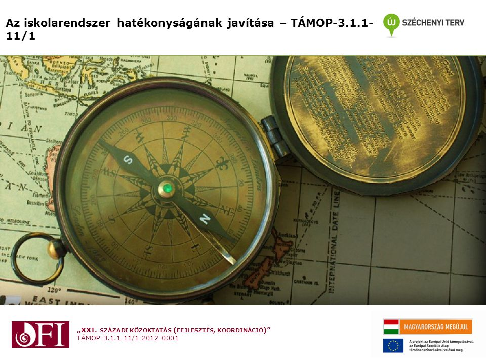 Az iskolarendszer hatékonyságának javítása – TÁMOP-3.1.1-11/1